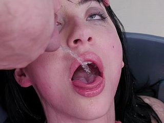 Goth slutwife fed piddle plus a-hole screwed in the enfeeble