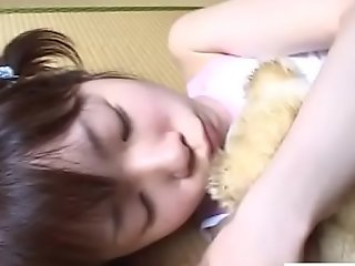 JAV teen stripped plus fondled while holding stand firm by Subtitled