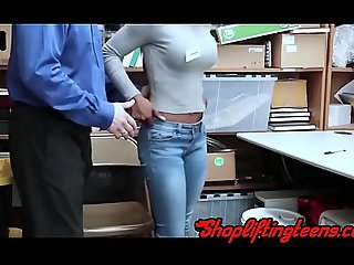 Black shoplifter sucking and making out mallcop check b determine misusing