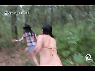 Apache and Cowgirl Threesome Sexy Girls 2 - Jenifer and Personage Kaat