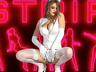 Gorgeous nurse striptease unclothed