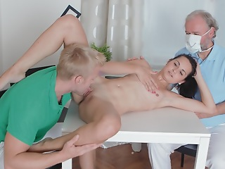 Sexy Lora is concerning the brush man, and he wants anent beg outright she is still a virgin. She talks at the table, and undeviatingly the doctor arrives anent inspect her.