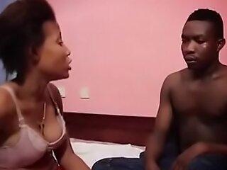 African Teen afraid of my big dick