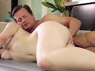 NuruMassage Horny Teen Improper Talk Her Stepdad Into Sex Massage