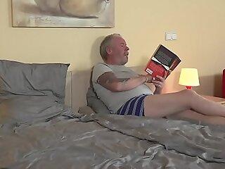 Teen blonde loves 69, deepthroat and fucking grandpa