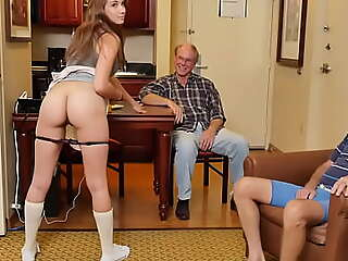 BLUE Dribble MEN - Precious Teen Naomi Alice Shares Her Pristine Pussy With Some Old Geezers
