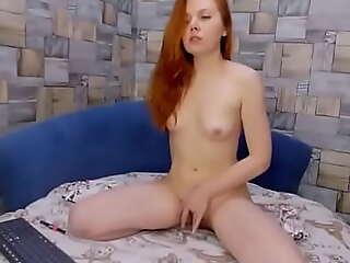 Horny Redhead Teen Fucks Yourself (Hot Red Elaiza)