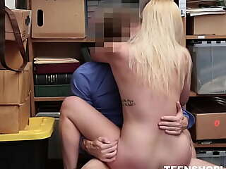 Sexy Big Irritant Small Tits Blonde Teen Shoplifter Fucked