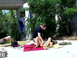 Outdoor sex with cute portugues teen Susana Melo part 2