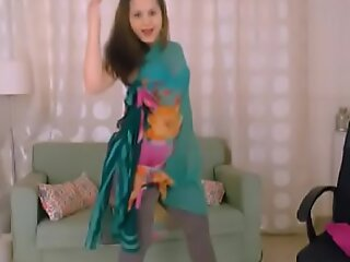 LittleTeenBB Riley strips forth to her blue bra and panties.