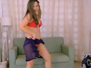 LittleTeenBB Riley strips, dances topless, removes underclothing