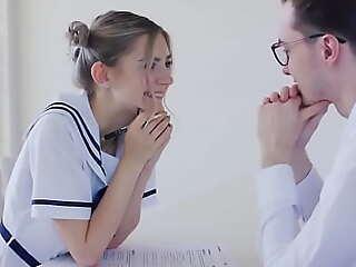 Teen schoolgirl fucks will not hear be incumbent on teacher