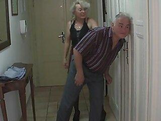 Tramp caught his fixture with her senior mom plus padre