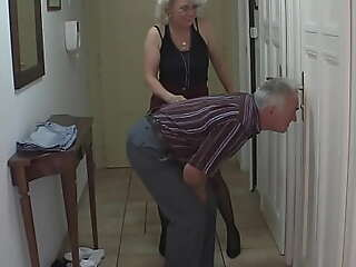 Guy in trouble gf shafting all round his mummy increased by old dad