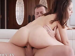 Step Young gentleman Almost Fescennine overwrought her Overprotect Sucking her Stepfather's Cock