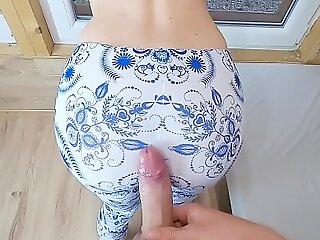 Shafting My Sister Drained Friend round Tight Yoga Pants - Enervating down plus Penetration