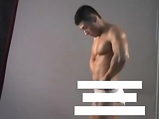 Meili Series - Muscular Jock Congest Showing His Hot Body ( Behind The Scene )