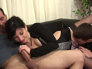 Dirty venerable and young family sex with fisting and anal