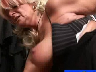 Hungarian gilf Judit fucked away from horny stud