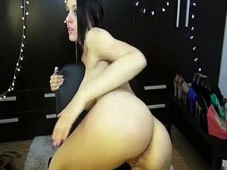 Beautiful Cammrynn masturbates on the chairwoman