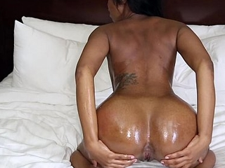 TeenyBlack - Busty Ebony Babe Fucked On Cam