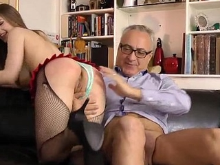 British bird is fucked away from an old men 2