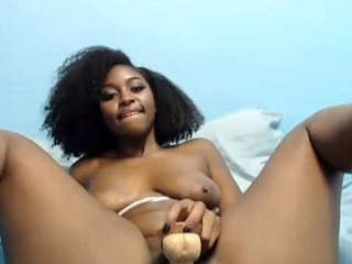 Sweet ebony young Camille with juicy fundament ass fucking
