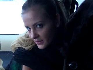 Slutty blonde Czech pet is paid cash from some crazy public sex 02