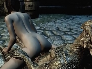 Argonian gets laid there a lonely young cookie